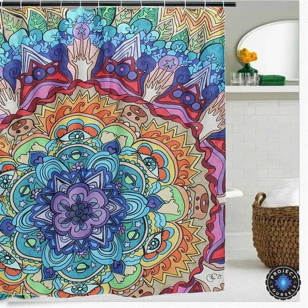 Mesmerizing Mandala Shower Curtain Project Yourself
