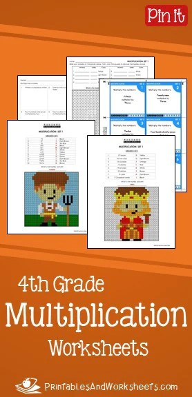 4th Grade Multiplication Worksheets   Printables   Worksheets