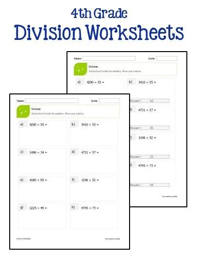 4th Grade Multiplication and Division Worksheets  Printables & Worksheets