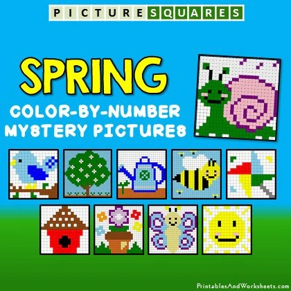 Spring Color By Number Mystery Pictures Activities