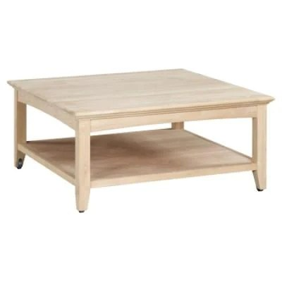 coffee tables at unfinished furniture