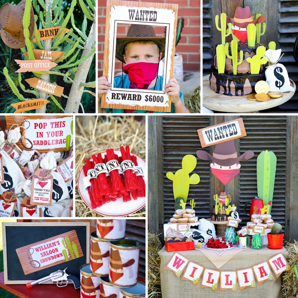 Cowboy Birthday Party Set Amazing Cowboy Party Activities Labels S Sunshine Parties