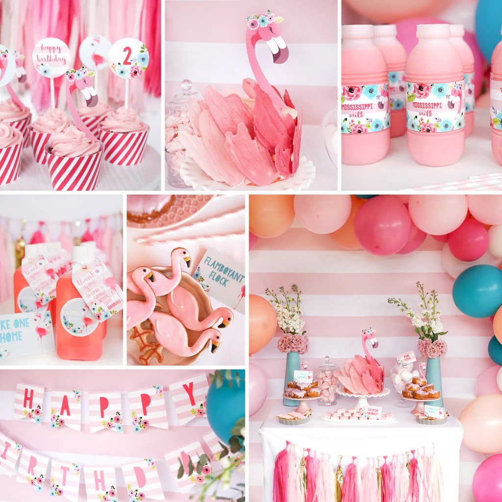 flamingo birthday party decorations flamingo party decor