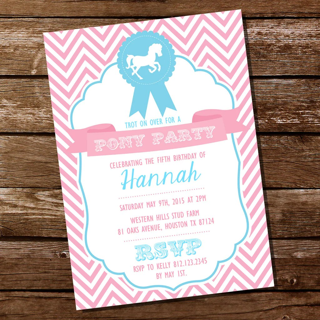 horse birthday party invitations for a girl pink horse party sunshine parties