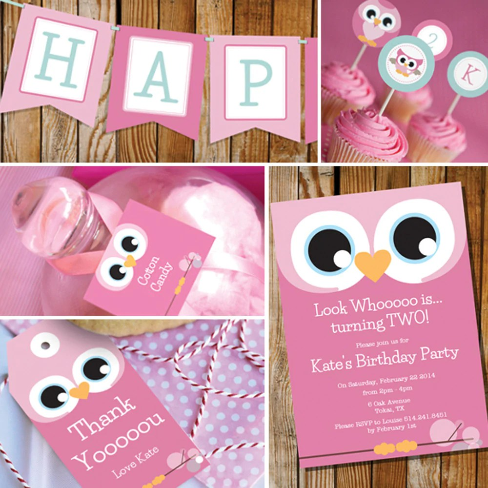 Cute Owl Birthday Party Decorations For A Girl Sunshine Parties