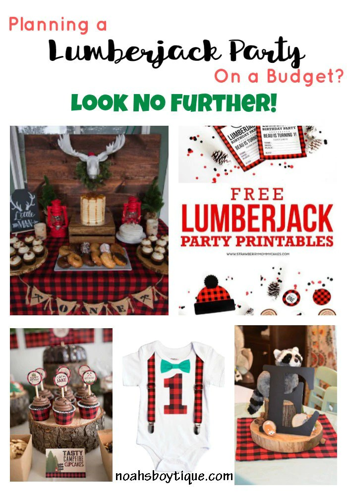lumberjack first birthday party outfit