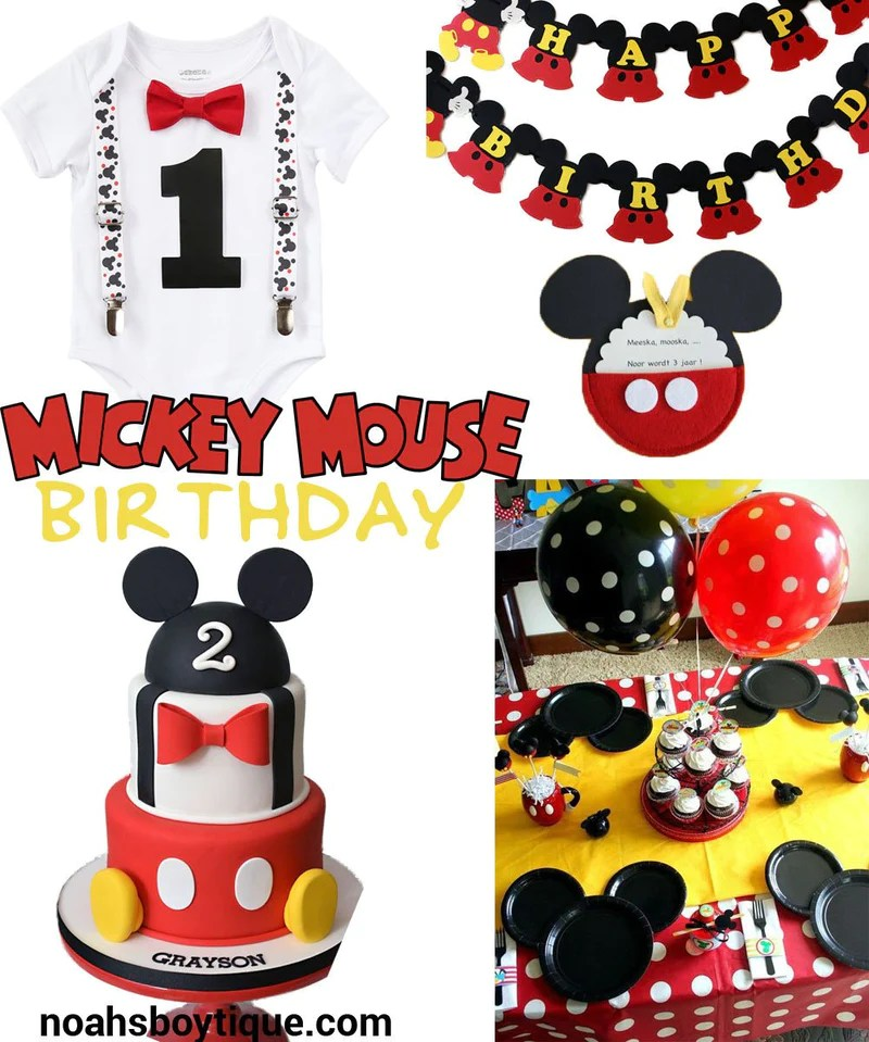 Mickey Mouse Birthday Party Ideas And Outfit Inspiration Noah S Boytique