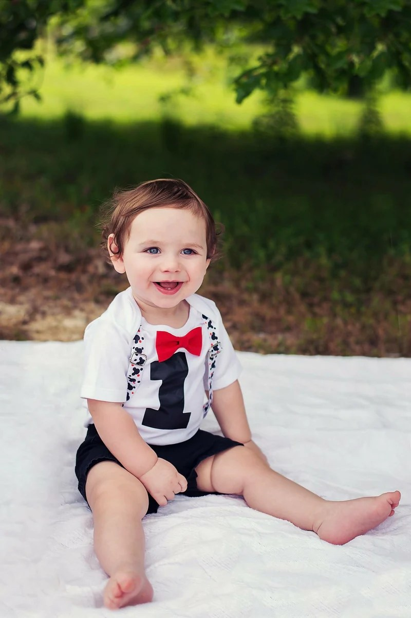 Baby Boy First Birthday Mickey Mouse Outfit Mickey Theme Party Noah S Boytique