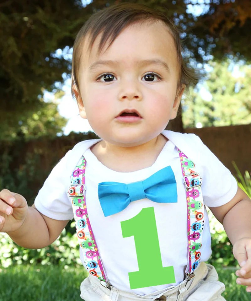 Monster Birthday Outfit Boy Little Monster Onesie First Birthday Monster First Birthday Outfit Bow Tie Suspenders Cake Smash Little Monster Birthday Outfit Baby Boy Green Lime Orange Blue Purple Monster Party Supplies Monster Theme First Birthday Party Outfit
