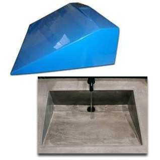 concrete countertop rubber sink mold sdp 29 traditional ramp 20 x14 x6