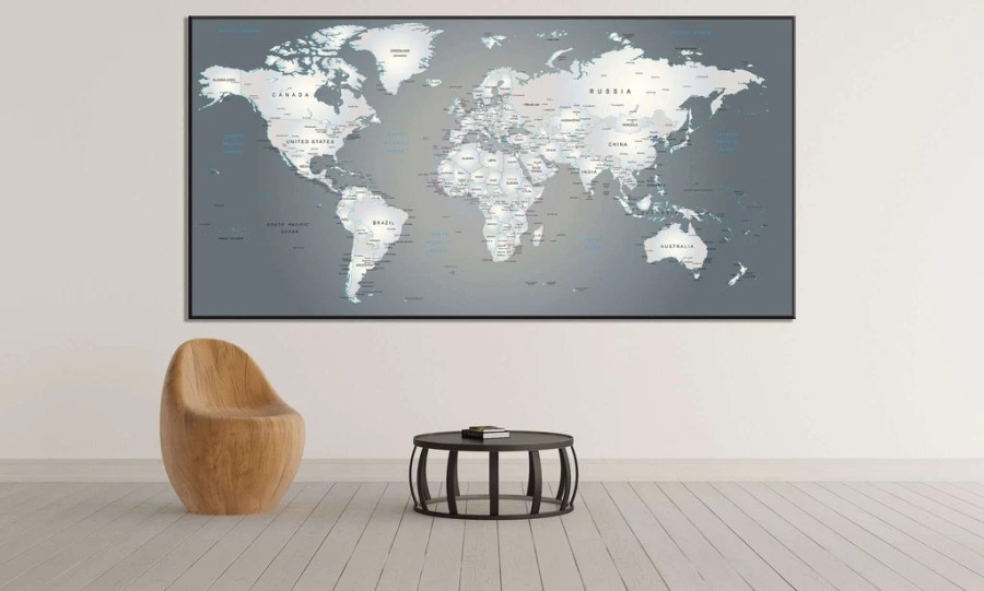 Extra Large World Map       883 Ready to Hang Canvas Print Canvas Print     Extra Large World Map       883 Ready to Hang Canvas Print
