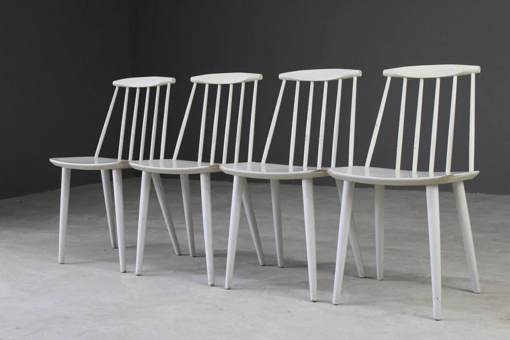 4 Vintage Danish Stick Back Dining Chairs Folke Palsson Fdb Mobler Kernow Furniture