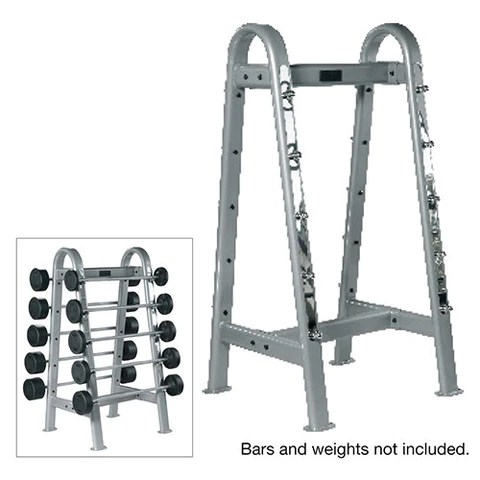 york barbell rubber fixed straight and curl bar rack sets