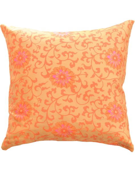 floral burst pillow yellow orange