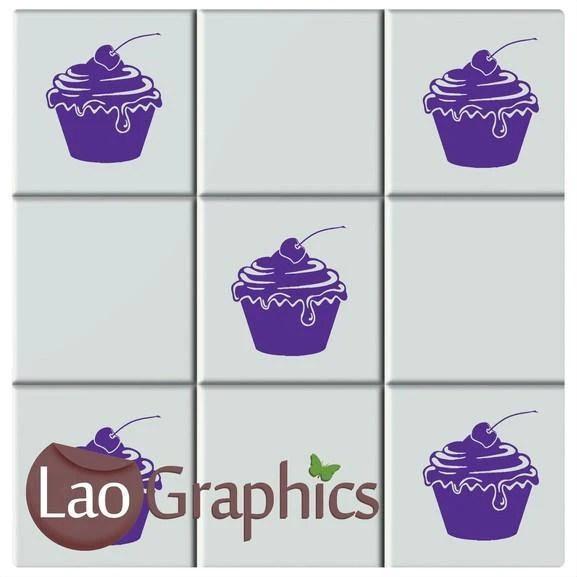 cupcake kitchen tile transfers home decor art decals vinyl stickers