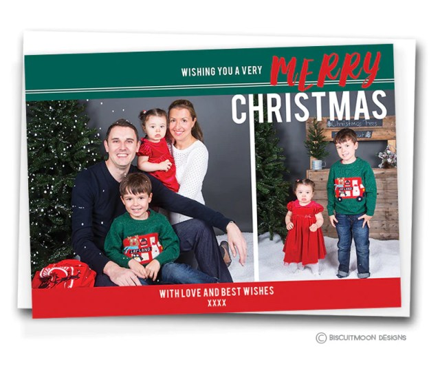 Festive Family Montage Personalised Christmas Cards