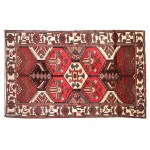 5x9 Rugs Oriental Brown Hand Knotted Persian Area Rugs 5 4