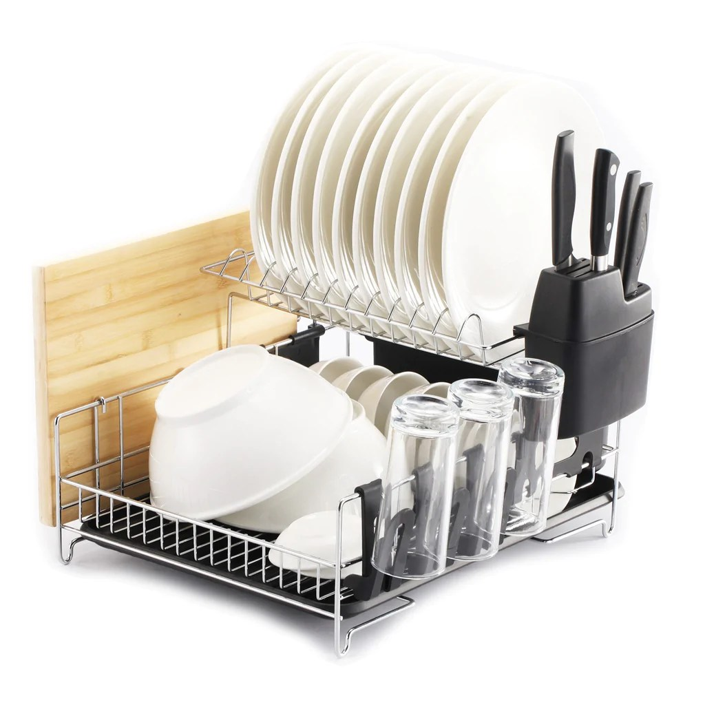 PremiumRacks Professional Dish Rack 304 Stainless Steel Fully Custo