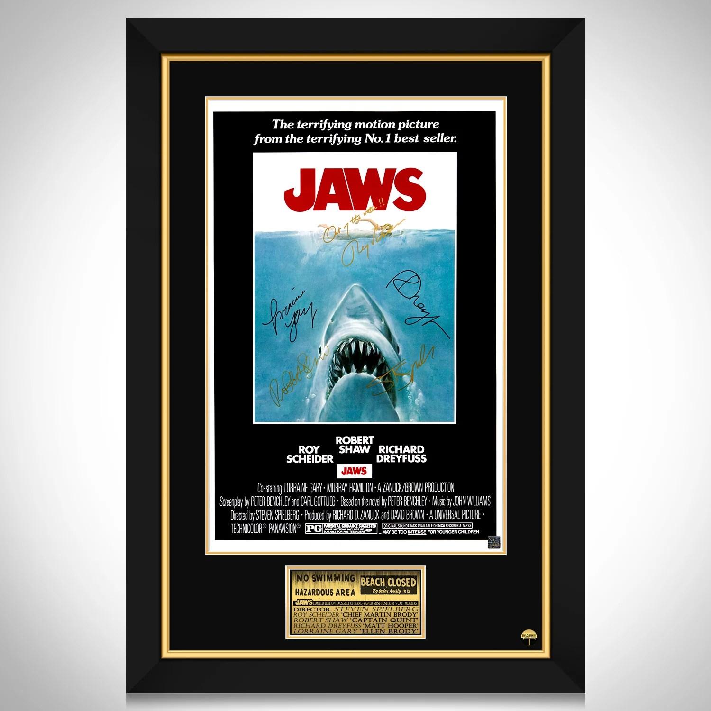 jaws movie mini poster limited signature edition studio licensed custom frame