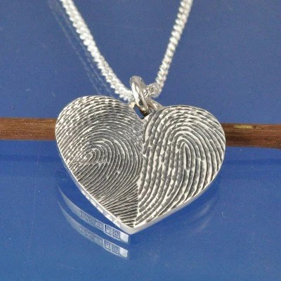 Double Fingerprint Necklace Chris Parry Handmade