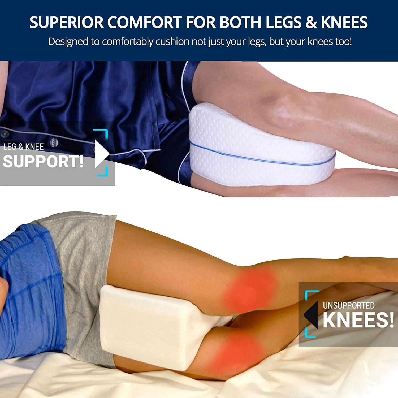 orthopedic spine alignment leg pillow w