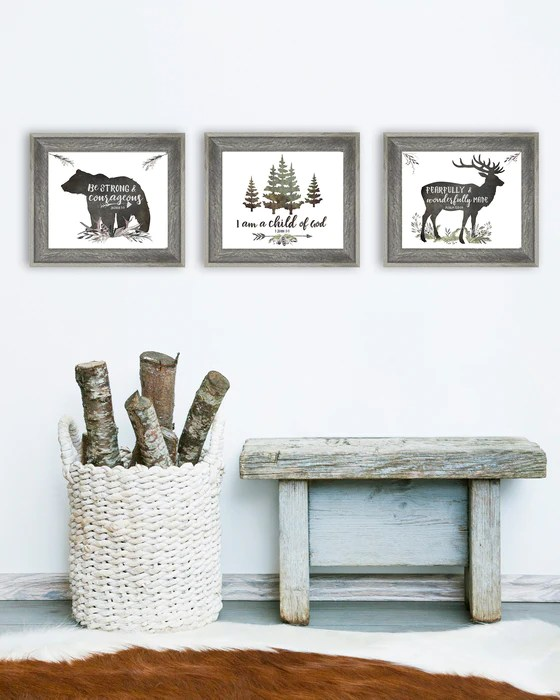https www daffodilcreek com products rustic boys room set of three lettered prints