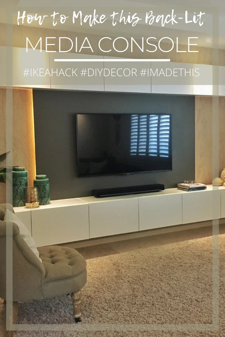 Building A Backlit Media Console Using Ikea Besta Lux Hax