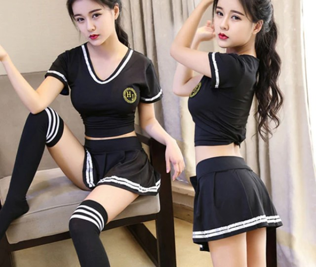 Sexy High School Colleage Girls Uniform Party Outfits Cheerleader