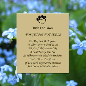 Help For Paws       Forget Me Not Seeds