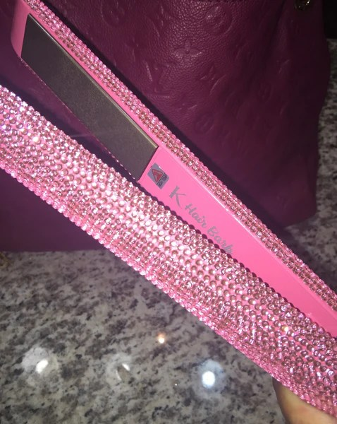 Hair Barb Pink Diamond Flat Iron Kendras Boutique1