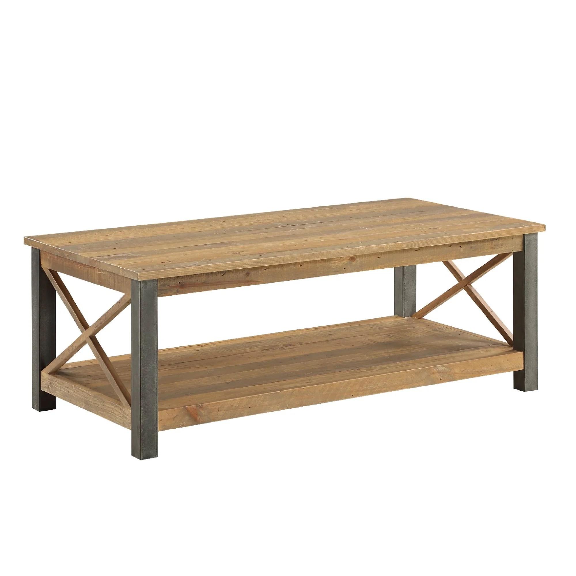 Urban Elegance Reclaimed Wood Extra Large Coffee Table Roseland Furniture