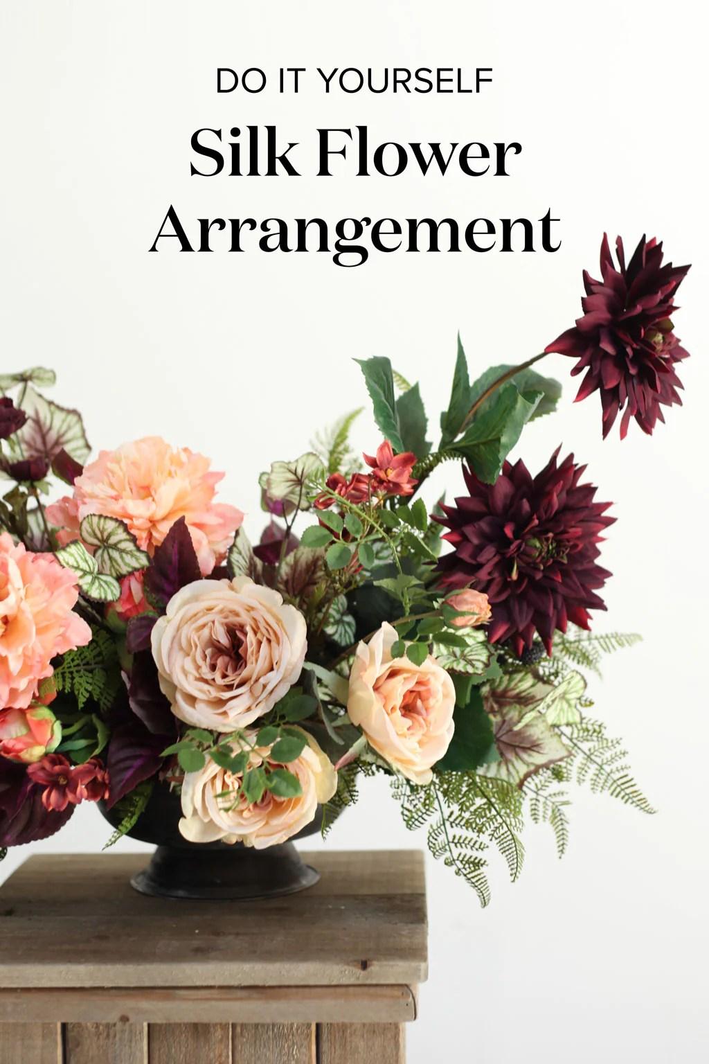 Diy Silk Flower Arrangement Afloral Com