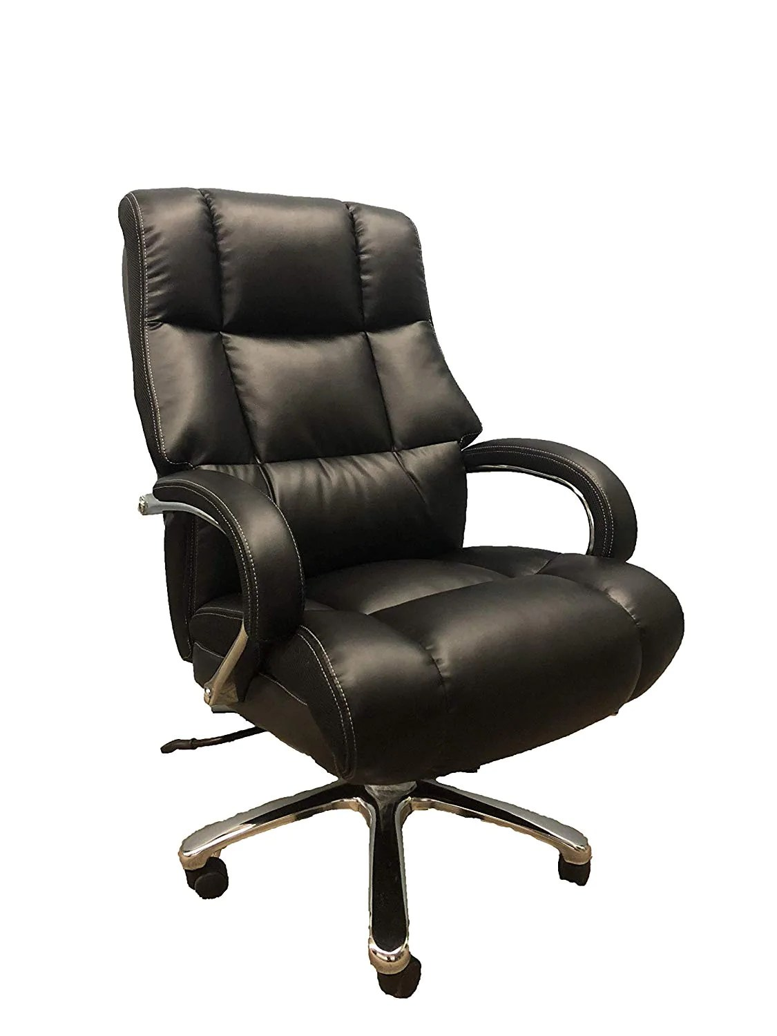 Big And Tall Black Comfort Executive Office Chair With Extra Thick Pad Us Office Elements