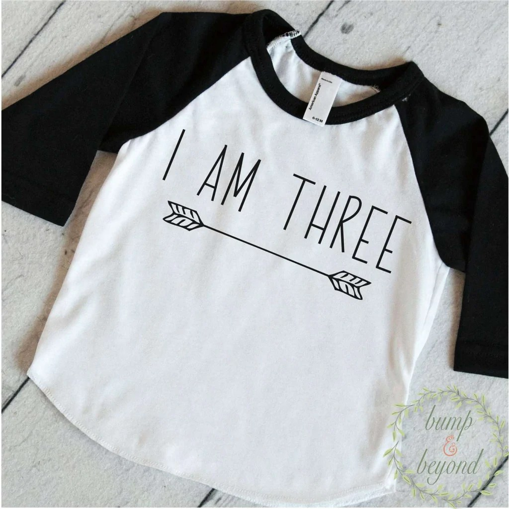 Three Year Old Birthday Shirt Boy 3 Years Old Birthday Outfit Raglan T Bump And Beyond Designs