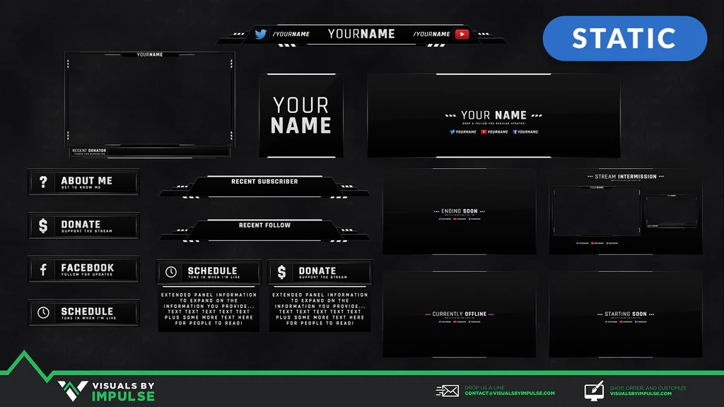 Top Twitch Templates Overlays And Panels For 2019