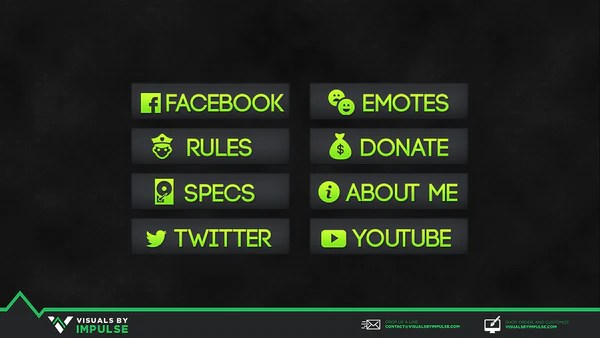 Colored Twitch Panels Visuals By Impulse