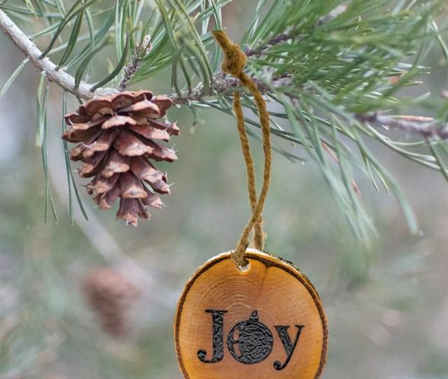 Wood Burned Christmas Ornament Joy Designmed Unusual Gifts R Us