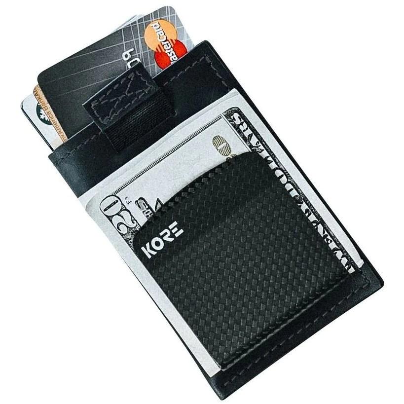 Kore Slim Leather Wallet | RFID Blocking & Carbon Fiber ...