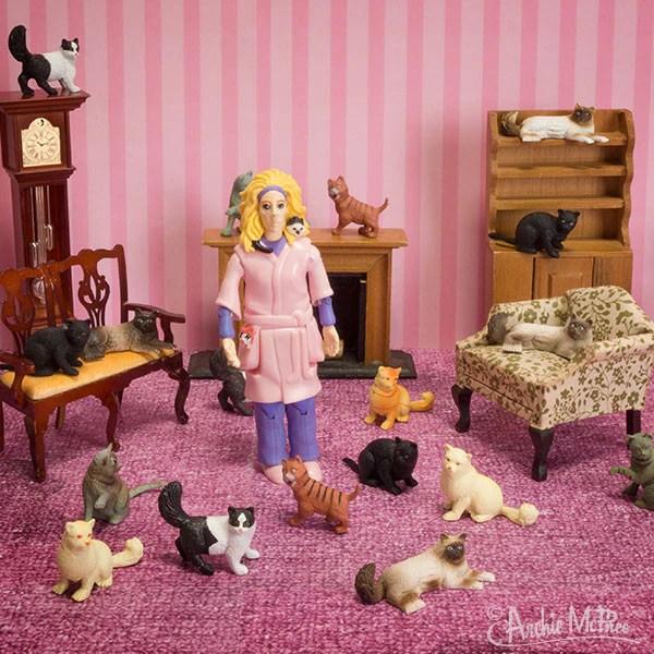 Crazy Cat Lady Action Figure Archie McPhee Amp Co