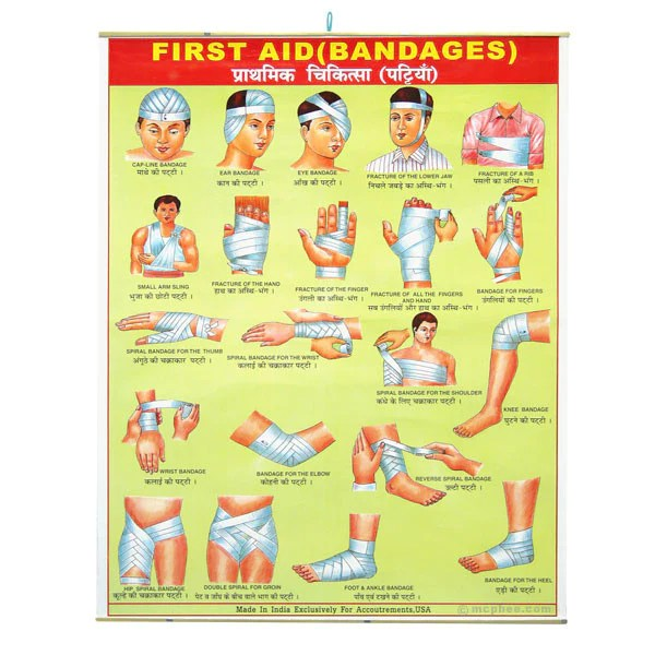 First Aid Bandages Indian Poster Archie McPhee