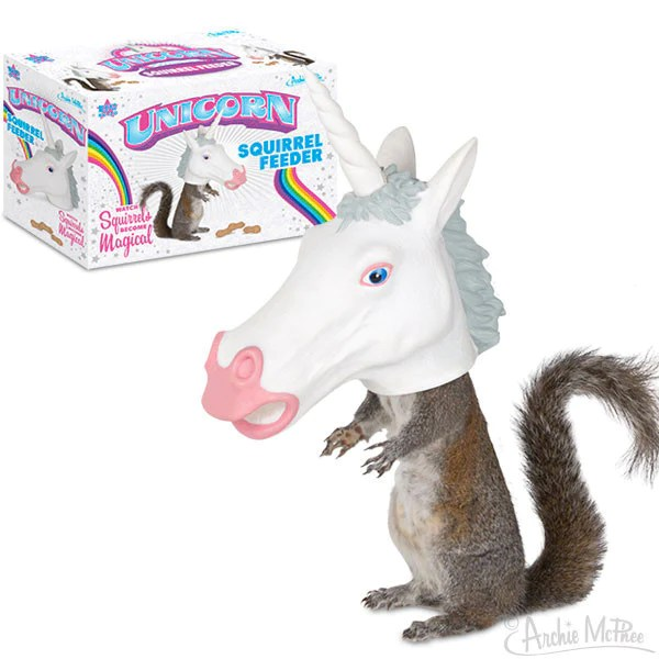 Unicorn Squirrel Feeder Archie McPhee Amp Co