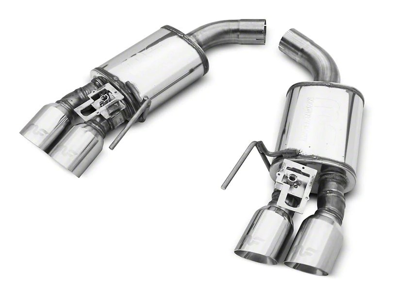 magnaflow competition cat back exhaust polished quad tips