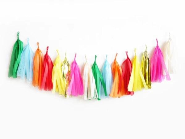 Carnival Rainbow Tassel Garland