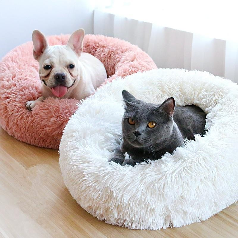 fluffy marshmallow cat dog bed