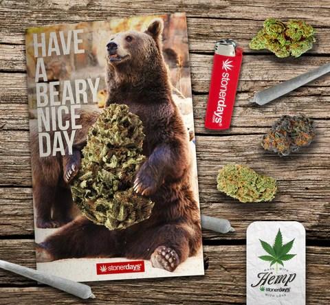 hemp card bear greeting card