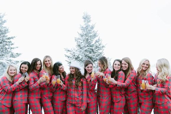 Winter Bachelorette Party Ideas | Flannel PJs