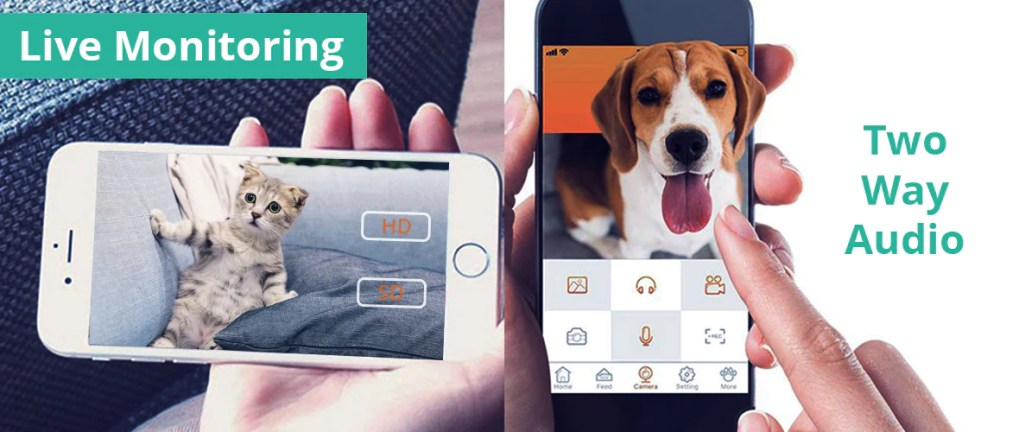Smartpaw PetFun APP Premium Pet Feeder has two way audio and 720p HD pet camera for monitoring purposes