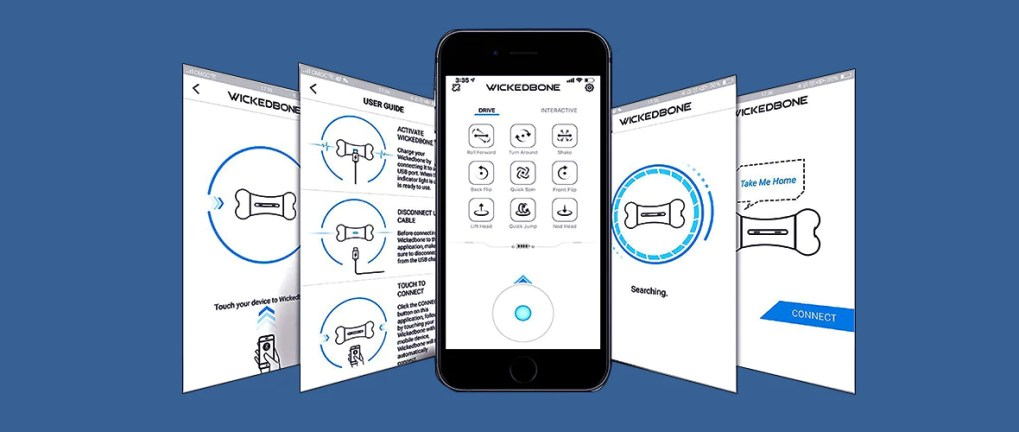 Drive Mode & Interactive Mode Interface of Wickedbone Mobile Application