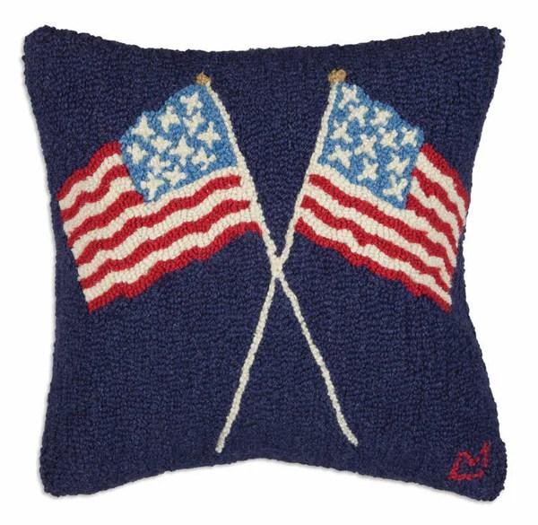 american pride hand hooked pillow carleton varney