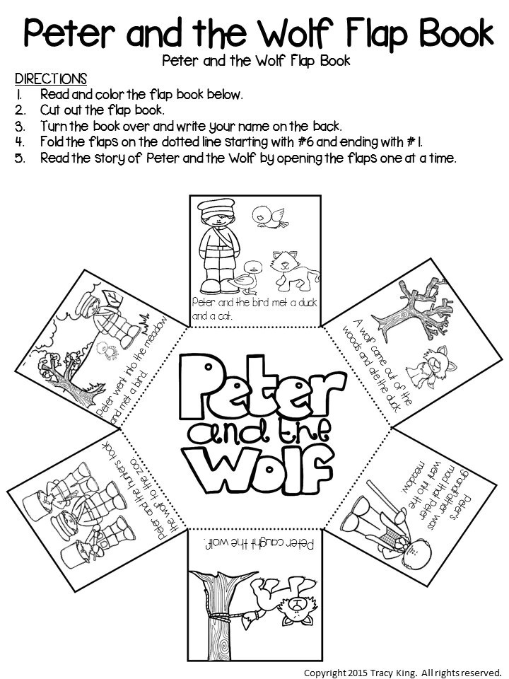 Peter And The Wolf Flap Book The Bulletin Board Lady